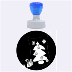 Christmas sock Rubber Round Stamps (Large)