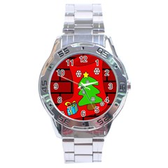 Christmas sock Stainless Steel Analogue Watch
