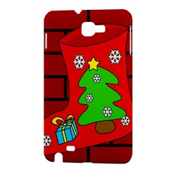 Christmas sock Samsung Galaxy Note 1 Hardshell Case