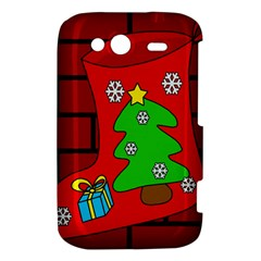 Christmas sock HTC Wildfire S A510e Hardshell Case