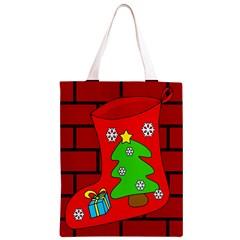 Christmas sock Classic Light Tote Bag