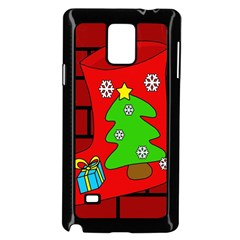 Christmas sock Samsung Galaxy Note 4 Case (Black)