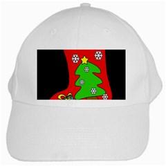 Christmas sock White Cap