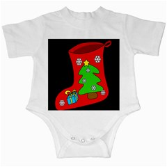 Christmas sock Infant Creepers
