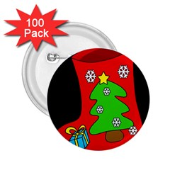 Christmas sock 2.25  Buttons (100 pack)