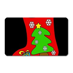 Christmas sock Magnet (Rectangular)