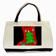 Christmas sock Basic Tote Bag