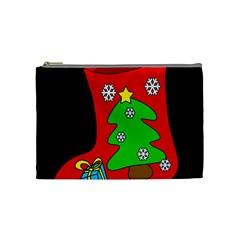 Christmas sock Cosmetic Bag (Medium)