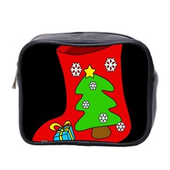 Christmas sock Mini Toiletries Bag 2-Side