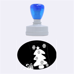Christmas sock Rubber Oval Stamps