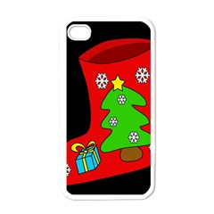 Christmas sock Apple iPhone 4 Case (White)