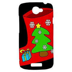 Christmas sock HTC One S Hardshell Case