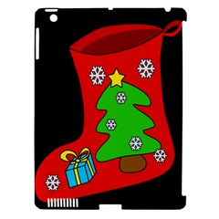 Christmas sock Apple iPad 3/4 Hardshell Case (Compatible with Smart Cover)