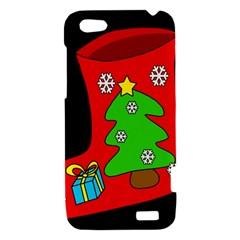 Christmas sock HTC One V Hardshell Case