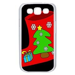 Christmas sock Samsung Galaxy S III Case (White)