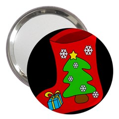 Christmas sock 3  Handbag Mirrors