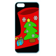 Christmas sock Apple Seamless iPhone 5 Case (Color)