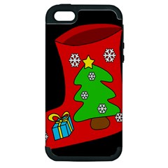 Christmas sock Apple iPhone 5 Hardshell Case (PC+Silicone)