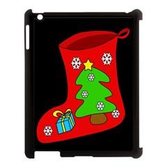 Christmas sock Apple iPad 3/4 Case (Black)