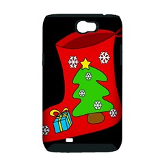 Christmas sock Samsung Galaxy Note 2 Hardshell Case (PC+Silicone)