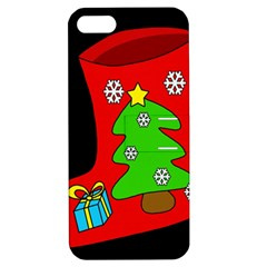 Christmas sock Apple iPhone 5 Hardshell Case with Stand