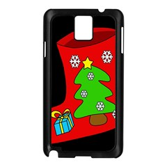 Christmas sock Samsung Galaxy Note 3 N9005 Case (Black)
