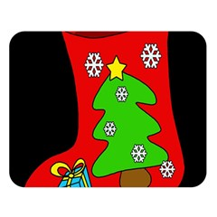 Christmas sock Double Sided Flano Blanket (Large)