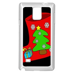 Christmas sock Samsung Galaxy Note 4 Case (White)