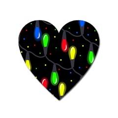 Christmas light Heart Magnet