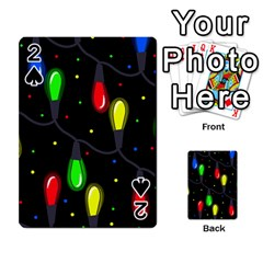 Christmas Light Playing Cards 54 Designs