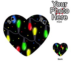Christmas light Playing Cards 54 (Heart)