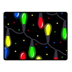 Christmas light Fleece Blanket (Small)