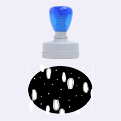 Christmas light Rubber Oval Stamps
