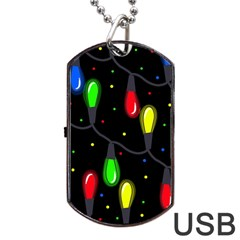 Christmas light Dog Tag USB Flash (One Side)