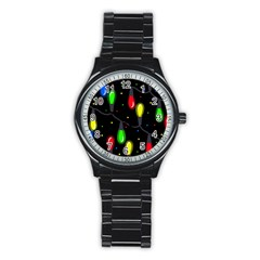 Christmas light Stainless Steel Round Watch