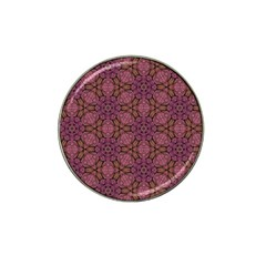 Fuchsia Abstract Shell Pattern Hat Clip Ball Marker (4 Pack)