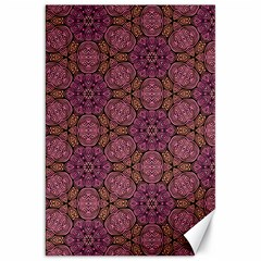 Fuchsia Abstract Shell Pattern Canvas 20  X 30