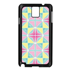 Pastel Block Tiles Pattern Samsung Galaxy Note 3 N9005 Case (black)