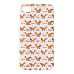 Fox And Laurel Pattern Apple Iphone 4/4s Hardshell Case
