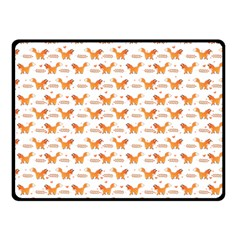 Fox And Laurel Pattern Double Sided Fleece Blanket (small)