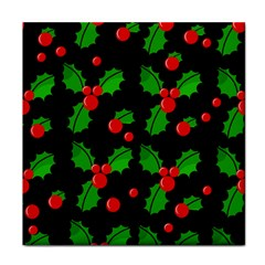 Christmas berries pattern  Tile Coasters