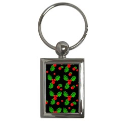 Christmas berries pattern  Key Chains (Rectangle)