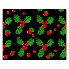 Christmas berries pattern  Rectangular Jigsaw Puzzl