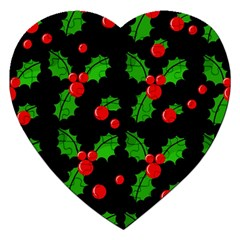 Christmas berries pattern  Jigsaw Puzzle (Heart)