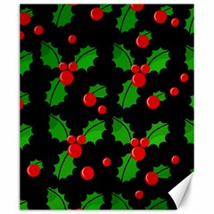 Christmas berries pattern  Canvas 20  x 24