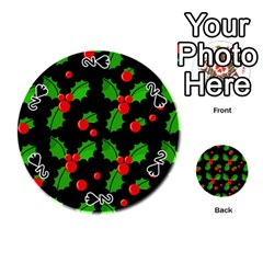Christmas berries pattern  Playing Cards 54 (Round)
