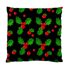 Christmas berries pattern  Standard Cushion Case (Two Sides)