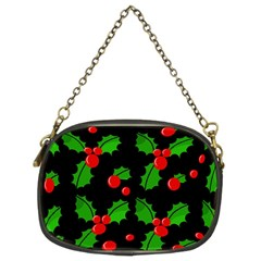 Christmas berries pattern  Chain Purses (Two Sides)