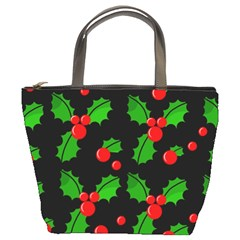 Christmas berries pattern  Bucket Bags