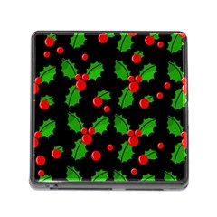 Christmas berries pattern  Memory Card Reader (Square)